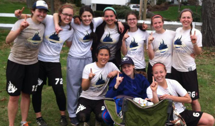 Women's Ultimate Frisbee Team