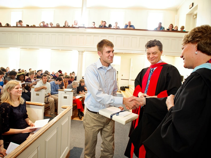 Tyler Roberts '12 received The Frederick Edmund Alexis Bush Award for his work as a member of Student Assembly.