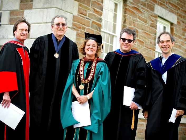 Professors John McEnroe, Maurice Isserman, Katharine Kuharic, Chaise LaDousa and Seth Major were recognized for their research and creative successes with the Dean's Scholarly Achievement Award.