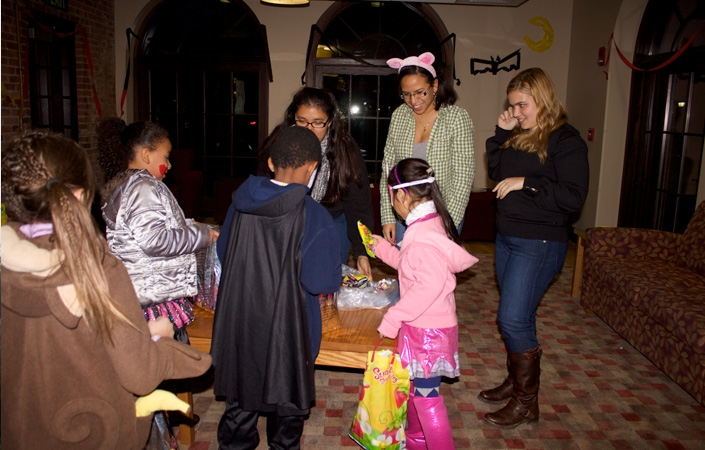 The Newman Council hosted its annual Trust Treat on Halloween for children from the Thea Bowman House in Utica.