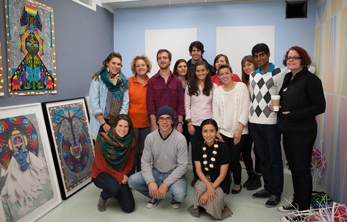 Senior art concentrators and art faculty visited NYC artists in their studios.