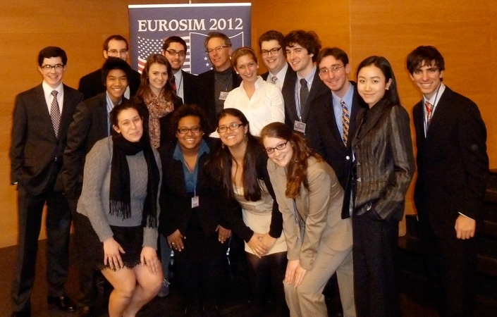 Students in Model EU traveled to Poland for the 25th annual EuroSim Conference.