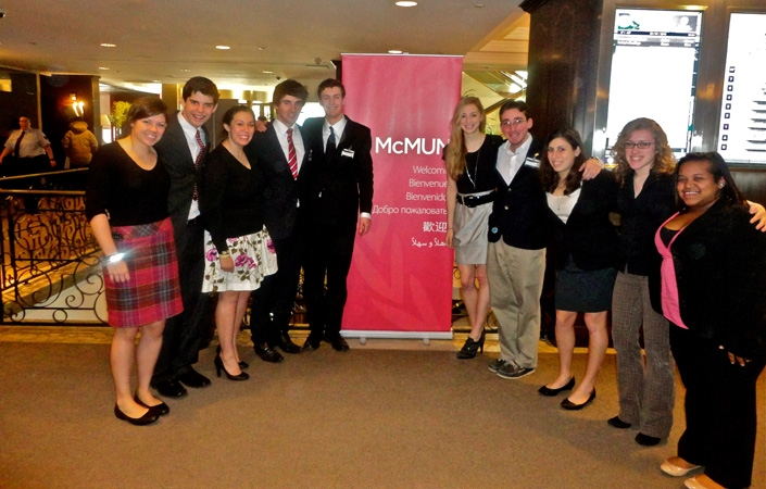 Ten students participated in the Model UN in Montreal.