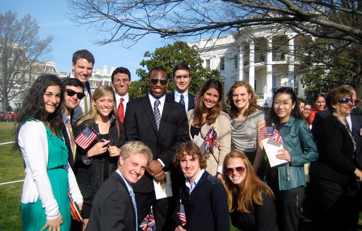 Students in the Washington, D.C., program attended the state arrival ceremony for UK Prime Minister David Cameron.
