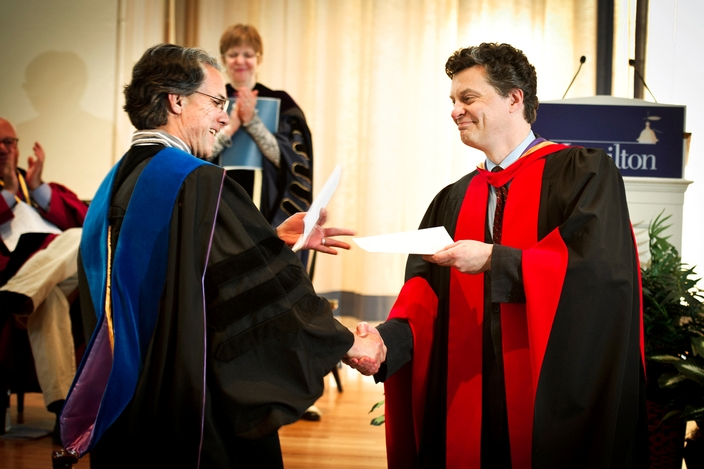 Professor of Religious Studies S. Brent Plate was presented with the Early Career Achievement Award.