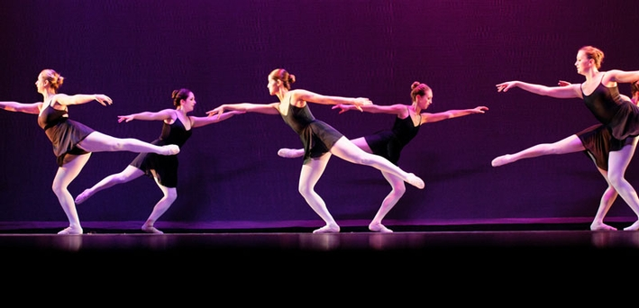 "Students perform a ballet titled ""Diamond Movement."" (PHOTO BY NANCY L. FORD)"