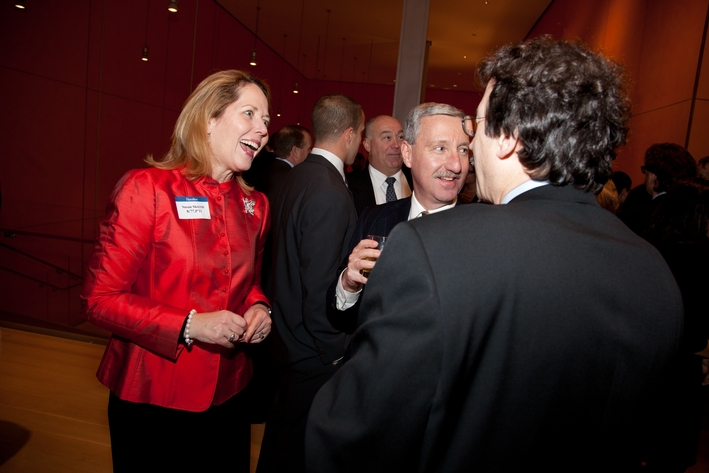 Susan Skerritt K'77, Bruce Lieberman '76 and Mitchell Radin '76