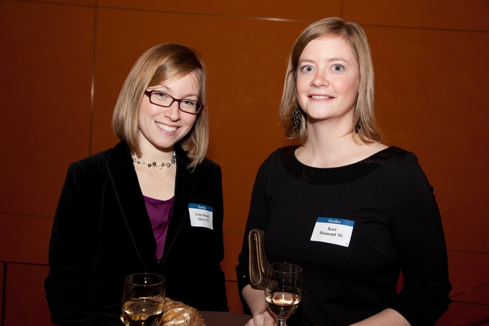 Erin Shoudy Meyer '01 and Keri Diamond '01
