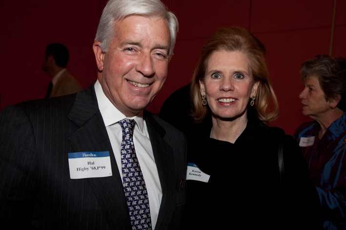 Hal Higby '68, P'99 and Karen Kennedy