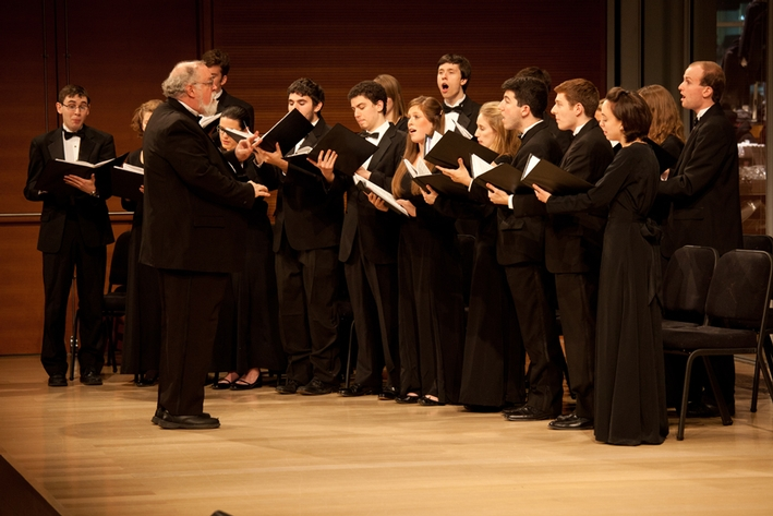 Professor of Music G. Roberts Kolb directed the College Hill Singers
