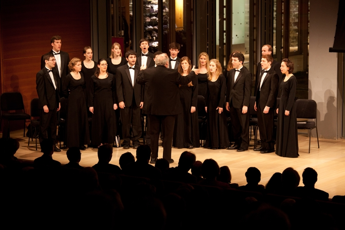 The College Hill Singers performed three songs during the 75-minute program