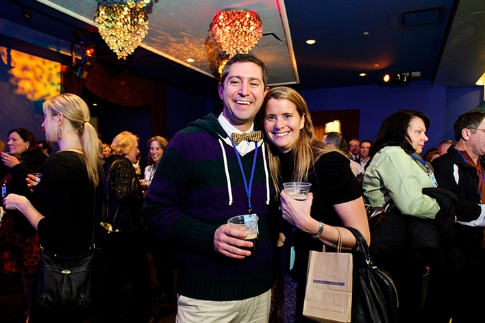 Jeff '00 and Peggy '01 Garte enjoy the Jon Bon Jovi and The Kings of Suburbia Benefit Concert for Scholarships and the Arts at Hamilton College