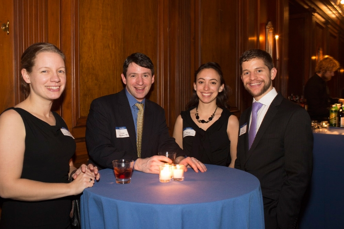Courtney Fitch Hirschey &apos;03, Tyler Hirschey &apos;00, Alison McLaughlin &apos;11, Peter Mallozzi &apos;09<br />Photo: Don Hamerman