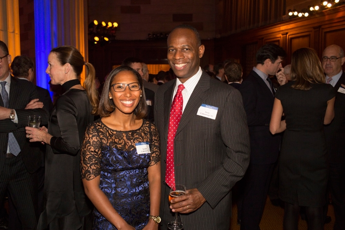 Aeon Cummings &apos;85 and Leide Cabral &apos;11<br />Photo: Don Hamerman