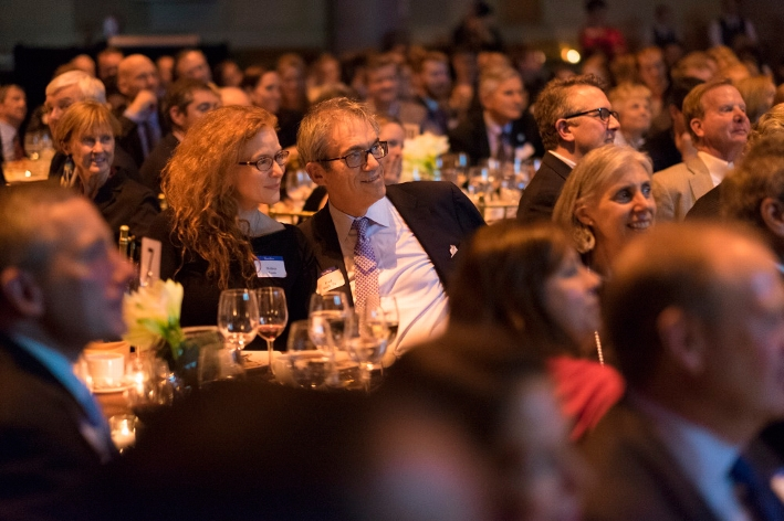 Fred Block &apos;74 and guest Melissa Yanis at the 18th Annual 1812 Leadership Circle dinner.<br />Photo: Don Hamerman