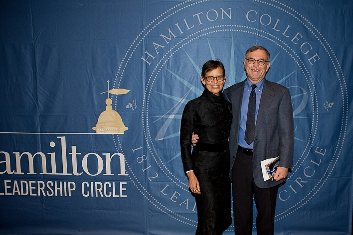 Roy Schecter &apos;73 and Karen Sahulka at the18th Annual 1812 Leadership Circle dinner.<br />Photo: Claudette Ferrone