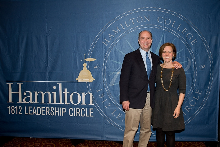 Margaret Bratton Schilling &apos;91 and Andrew Schilling at the18th Annual 1812 Leadership Circle dinner.<br />Photo: Claudette Ferrone