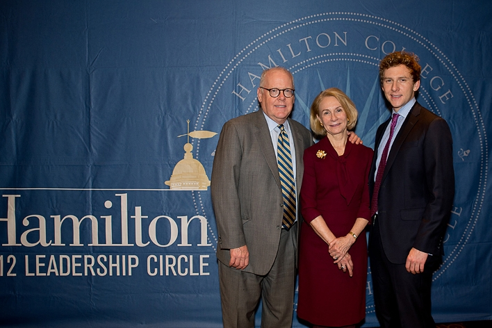 Brian and Susannah Bristol P&apos;11 with Sam Bristol &apos;11 at the18th Annual 1812 Leadership Circle dinner.<br />Photo: Claudette Ferrone