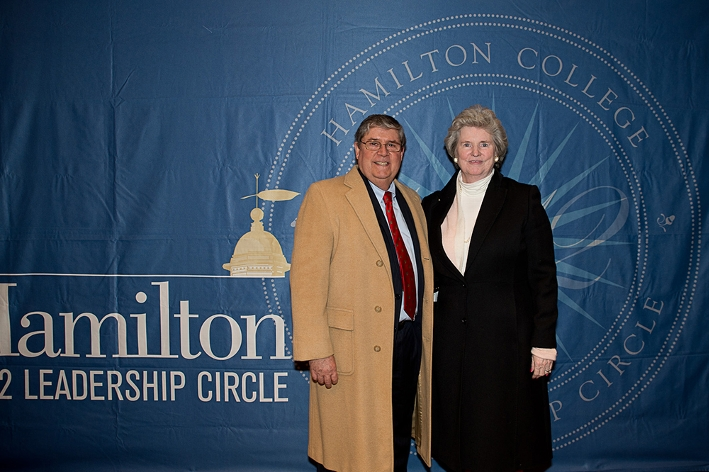 Margaret and Drew Watson P&apos;09 at the 18th Annual 1812 Leadership Circle dinner.<br />Photo: Claudette Ferrone