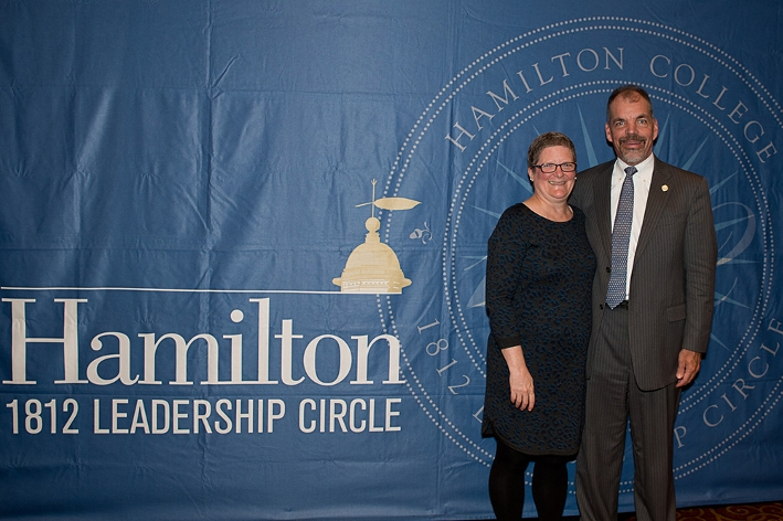 Paddy &apos;81 and Vikki McGuire P&apos;11 at the 18th Annual 1812 Leadership Circle dinner.<br />Photo: Claudette Ferrone