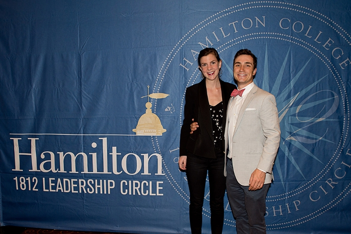 Dan Fielding &apos;07 and Charlotte Cowles at the 18th Annual 1812 Leadership Circle dinner.<br />Photo: Claudette Ferrone