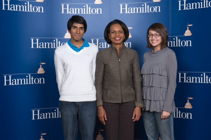 Sacerdote Great Names Speaker Dr. Condoleezza Rice, Nov. 1 2010