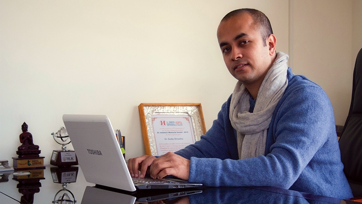 Pragyan Pradhan '08, co-founder of Danphe Energy, is helping his native Nepal.