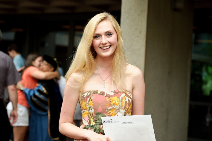 Fillius/Drown scholarship recipient Abigail Homer &apos;16.<br />Photo: Nancy L. Ford