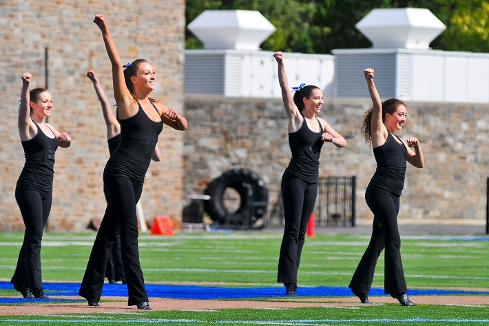 The Dance Team performed during halftime of the football game.<br />Photo: Michael Verostek &apos;16