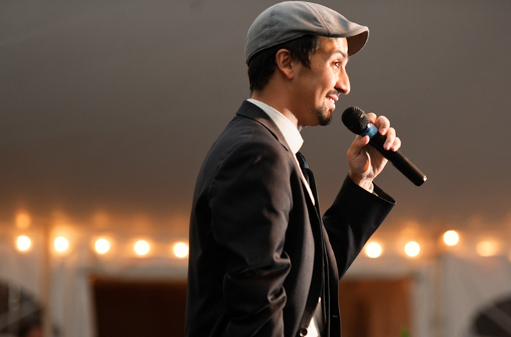 Tony Award Winner Lin-Manuel Miranda performs at the Bicentennial dinner.