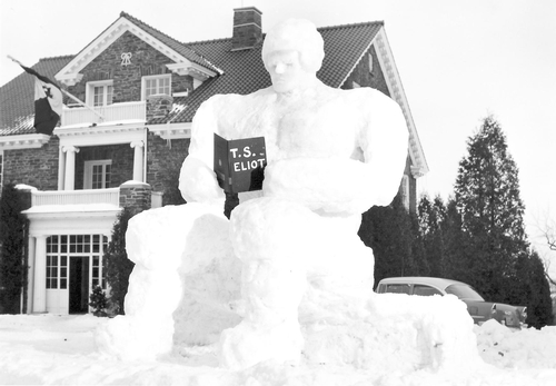 1956 DU snow sculpture.
