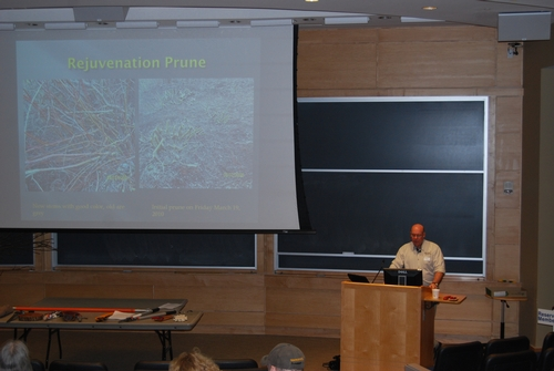 Arboretum Director Terry Hawkridge introduces the Advanced Pruning lecture