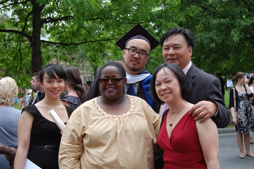 Baldwin Tang and family