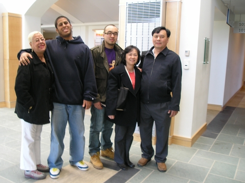 Terry Ortiz and Baldwing Tang and families