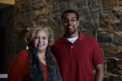 Joe Anderson '13 and mother