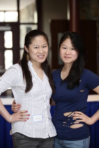 Kathy Lee '11 and sister Keely