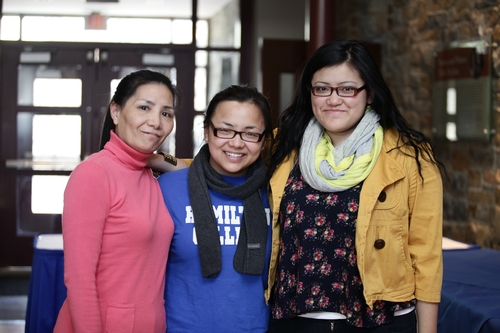Debbie Chen '13 and family