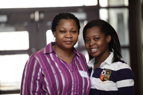 Morolake Thompson '14 and mother