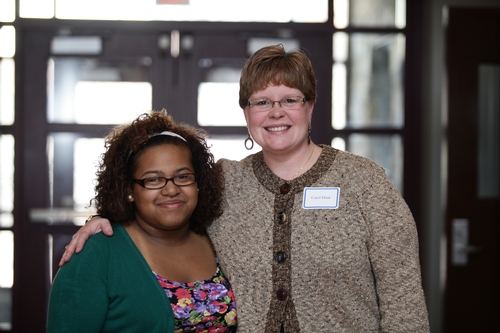 Jennifer Roberts '14 and Carol Hind