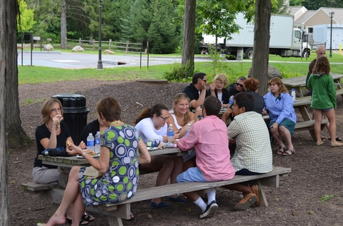 The Summer Community Lunches were graced with good weather and good company.