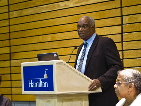 Chief Diversity Officer Donald Carter speaks