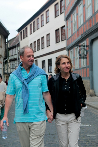 John and Kimberly Emerson strolling through the streets of Quedlinburg.