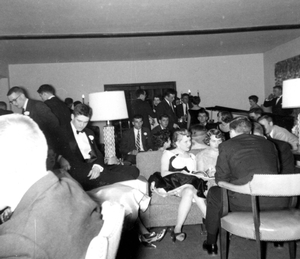 Feb 1955 Winter Carnival---Psi Upsilon cocktail party
