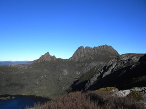 Figure 1 - Famous iconic imagery of Cradle Mountain seen at a distance before students began their strenuous climb.