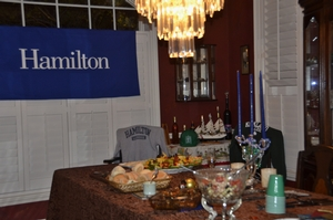 Festivities included food and memorabilia from both Hamilton and Kirkland at the Al Ham celebration held Jan. 14,  in Tampa, Fla.<br />