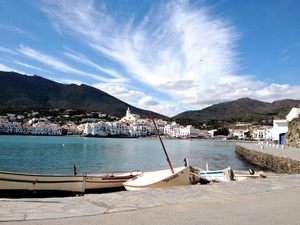 Cadaques sits at the edge of the Cap de Creus, the easternmost point of the Iberian Peninsula. Salvador Dali's workshop is here.