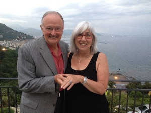 Chuck Dowd '66 proposed to Dr. Susan Maturlo on the Amalfi Coast in Italy