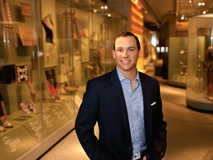 Andrew Lee '94 at the National Museum of the American Indian in New York, where Lee, a member of the Seneca tribe, serves on the board.