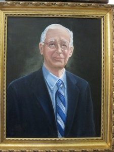 Portrait of George Nesbitt by Irad Ingraham--to be presented to the college at the Bicentennial.