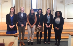 Winners of the 2015 Public Speaking Competition<br />Photo: Isabel Dau &apos;15